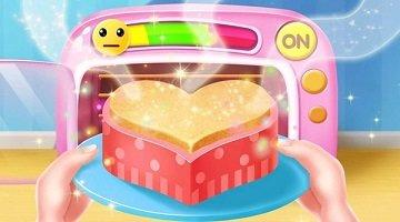 儿童做蛋糕游戏